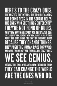 Steve Jobs quote the crazy ones